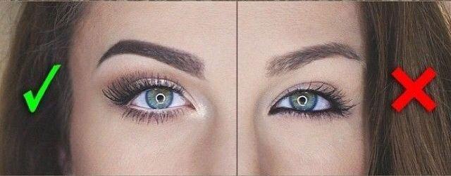 Правильный и неправильный макияж глаз