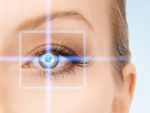 Глаз в фокусе лазера