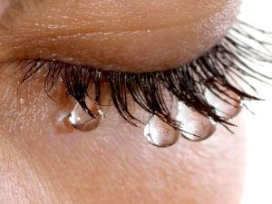 Слезы на глазах