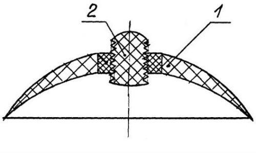 Кератопротез с разборным оптическим элементом