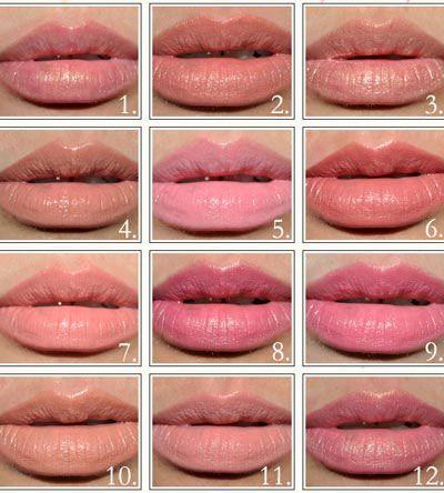 Оттенки губной помады