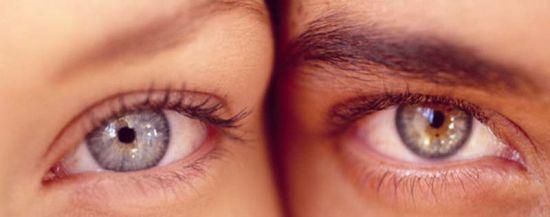 Мужской и женский глаз