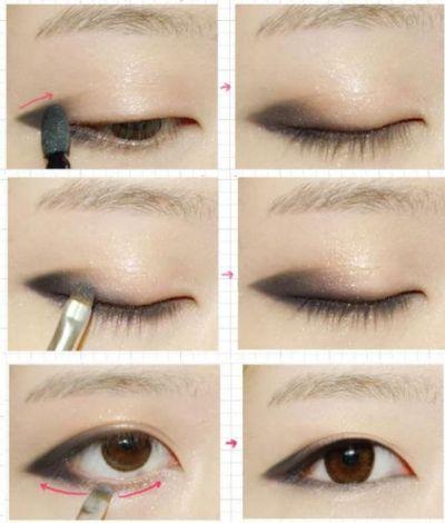 Поэтапное нанесение макияжа глаз