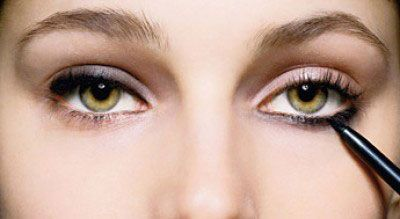 Нанесение макияжа глаз