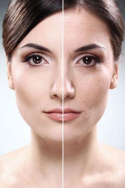 До нанесения макияжа и после