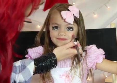 Тематический макияж для девочки