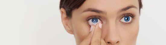 Снятие контактной линзы