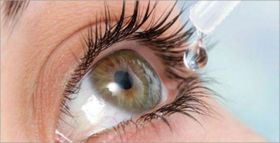 Закапывание капель в глаза