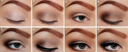 Нанесение макияжа на глаза