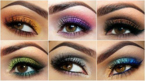 Разные макияжи глаз