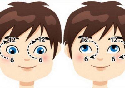 Упражнение «Часики» для детских глаз