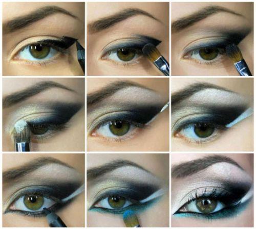 Восточный макияж глаз пошагово