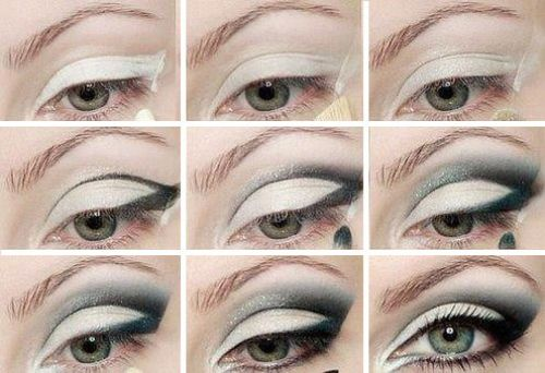 Зимной макияж глаз