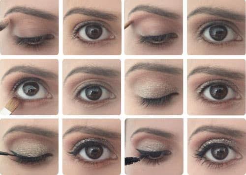 Нанесение макияжа на круглые глаза