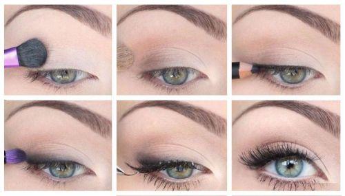 Пошаговое нанесение макияжа глаз