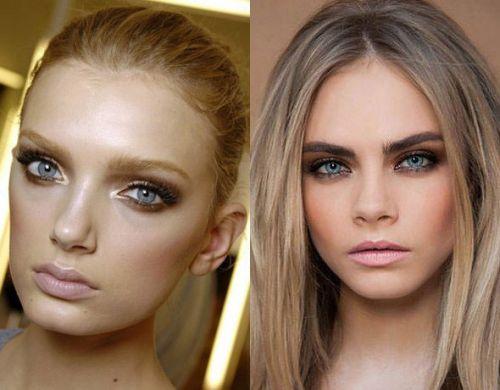 Макияж для светлых волос и голубых глаз