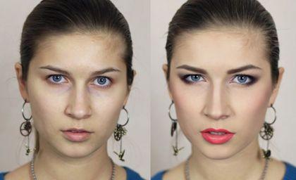 Коррекция формы глаз макияжем