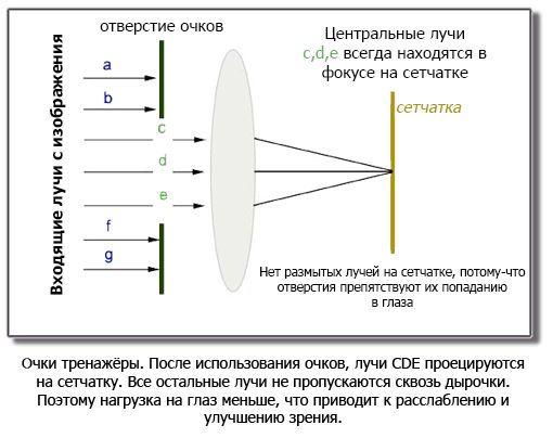 Принцип действия очков-тренажеров