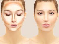 Уменьшение лица с помощью макияжа